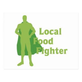 Combatiente local de la comida tarjetas postales