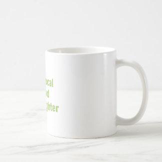 Combatiente local de la comida taza de café