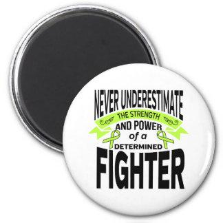 Combatiente resuelto de la enfermedad de Lyme Imán Redondo 5 Cm