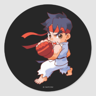 Combatiente Ryu 2 del bolsillo Pegatina Redonda