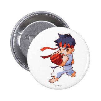 Combatiente Ryu 2 del bolsillo Pin Redondo De 2 Pulgadas