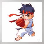 Combatiente Ryu 2 del bolsillo Posters