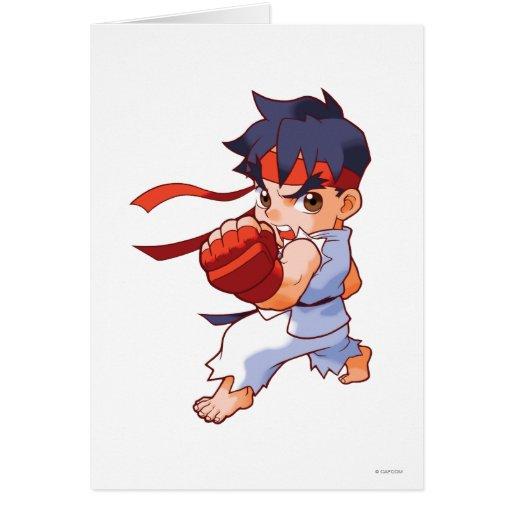 Combatiente Ryu 2 del bolsillo Tarjeta De Felicitación