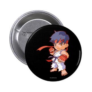 Combatiente Ryu del bolsillo Pin Redondo De 2 Pulgadas