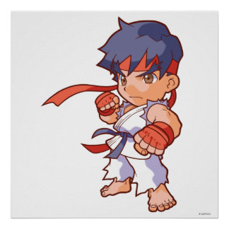 Combatiente Ryu del bolsillo Póster