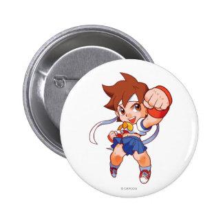 Combatiente Sakura 2 del bolsillo Pin Redondo De 2 Pulgadas