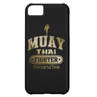 Combatiente tailandés de Muay del oro