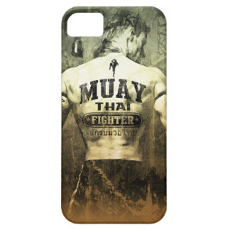 Combatiente tailandés de Muay del vintage iPhone 5 Funda