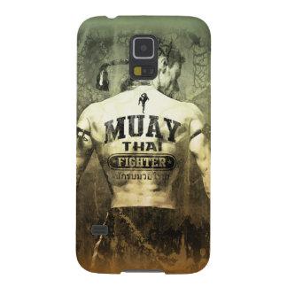 Combatiente tailandés de Muay del vintage Funda Para Galaxy S5