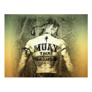 Combatiente tailandés de Muay del vintage Postal