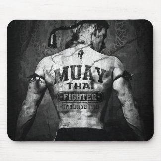 Combatiente tailandés de Muay del vintage Alfombrilla De Ratón