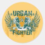 Combatiente urbano pegatinas redondas