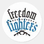 Combatientes AK47 de la libertad Pegatina Redonda