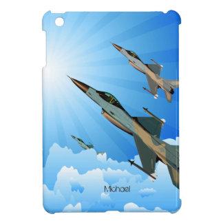 Combatientes de F-16 de la fuerza aérea en caso de
