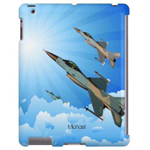 Combatientes de F-16 de la fuerza aérea que vuelan Funda Para iPad