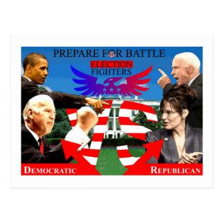 ¡Combatientes de la elección Tarjetas Postales