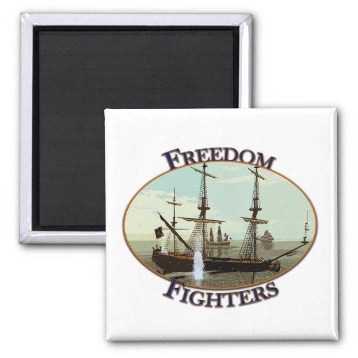 Combatientes de la libertad imán cuadrado