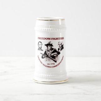 Combatientes de la libertad jarra de cerveza