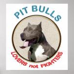 Combatientes de los amantes de los pitbulls no impresiones