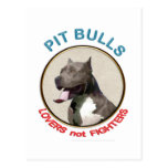 Combatientes de los amantes de los pitbulls no tarjetas postales