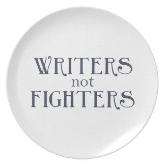 Combatientes de los escritores no platos para fiestas