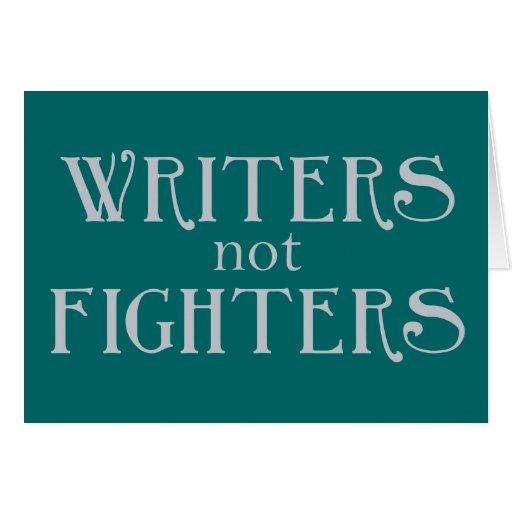 Combatientes de los escritores no tarjeton