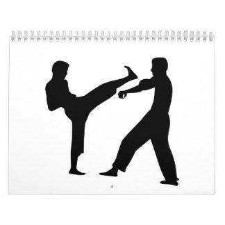 Combatientes del karate calendario