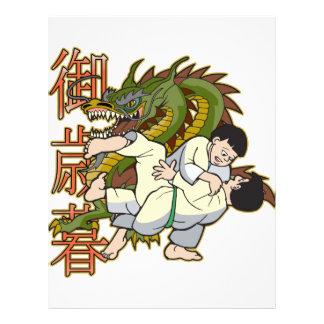 Combatientes del karate del dragón plantillas de membrete