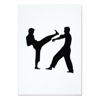 Combatientes del karate invitación 8,9 x 12,7 cm