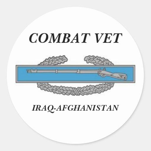 CombatInfBadge1Awd, COMBAT VET, IRAQ-AFGHANISTAN Stickers
