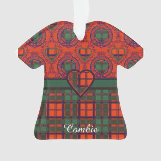 Combie clan Plaid Scottish kilt tartan Ornament