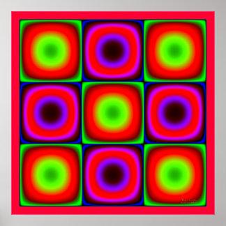 Combinación de color que oscila póster