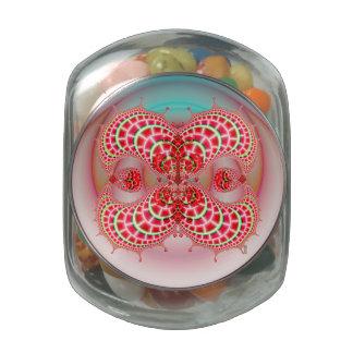 Combinación de los melones de Paisley Frascos Cristal