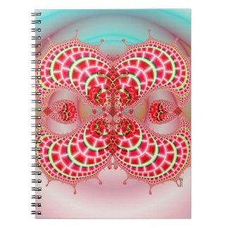 Combinación de los melones de Paisley Libros De Apuntes Con Espiral