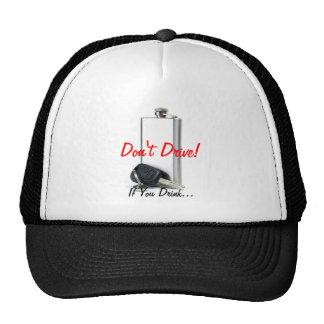 Combinación del peligro gorras de camionero