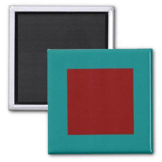Combinación/mezcla bicolores complementarias imán cuadrado