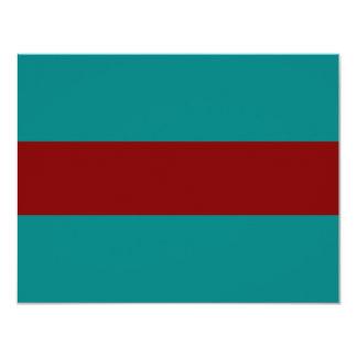 """Combinación/mezcla bicolores complementarias invitación 4.25"""" x 5.5"""""""