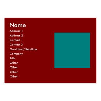 Combinación/mezcla bicolores complementarias tarjetas de visita grandes