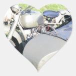Combinación militar de la motocicleta del vintage pegatina corazon