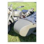 Combinación militar de la motocicleta del vintage tarjeton