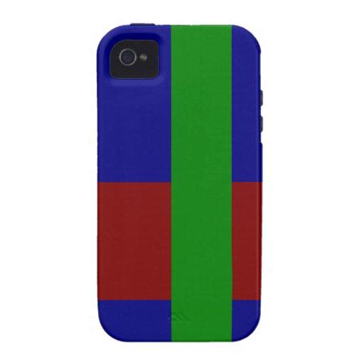 Combinación tricolor de la paleta - mezcla armonio iPhone 4/4S funda