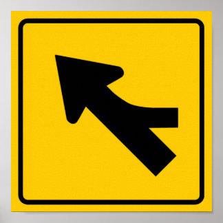 Combinando la muestra de la carretera del tráfico  poster