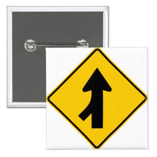 Combinando la muestra de la carretera del tráfico  pin cuadrada 5 cm