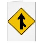 Combinando la muestra de la carretera del tráfico  tarjetas
