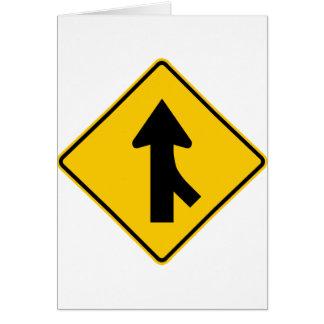 Combinando la muestra de la carretera del tráfico tarjeta de felicitación