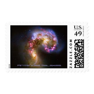 Combinando las galaxias - las galaxias de las estampilla