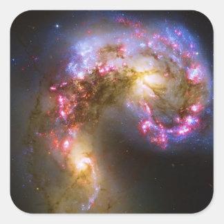 Combinando las galaxias - las galaxias de las pegatina cuadrada