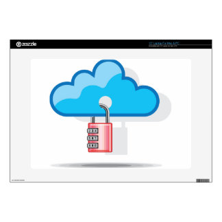 """Combination lock to Cloud Networking 15"""" Laptop Skin"""