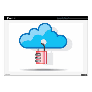 """Combination lock to Cloud Networking 17"""" Laptop Decals"""