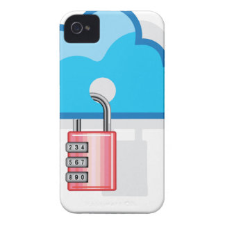 Combination lock to Cloud Networking Case-Mate iPhone 4 Case